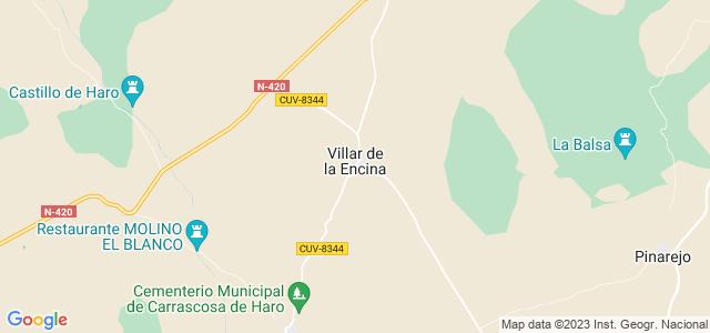 Mapa de Villar de la Encina