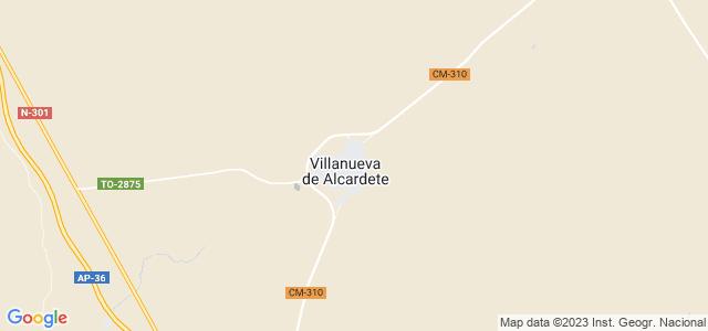 Mapa de Villanueva de Alcardete