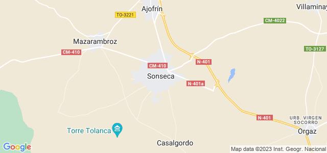 Mapa de Sonseca