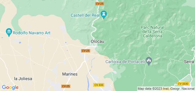 Mapa de Olocau