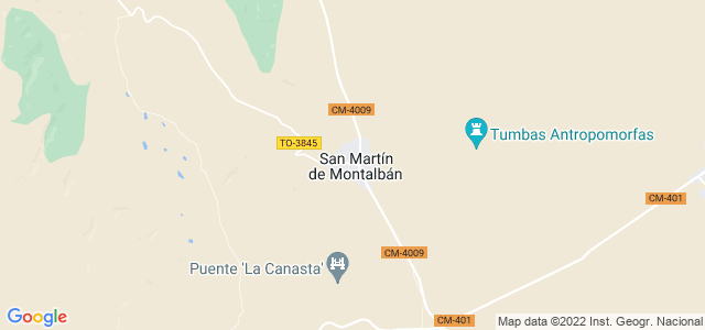 Mapa de San Martín de Montalbán