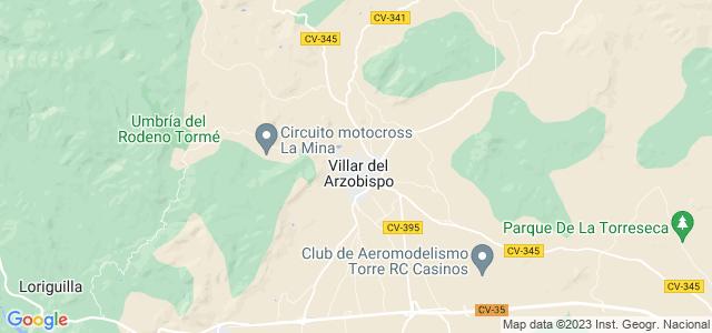 Mapa de Villar del Arzobispo
