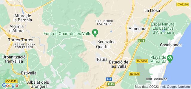 Mapa de Quart de les Valls