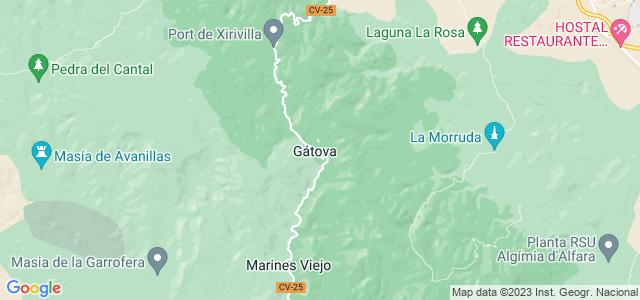 Mapa de Gátova