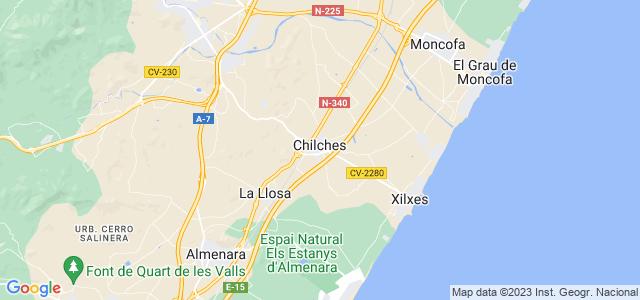 Mapa de Chilches - Xilxes