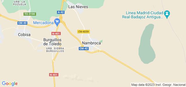 Mapa de Nambroca
