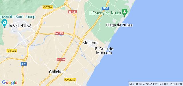 Mapa de Moncofa
