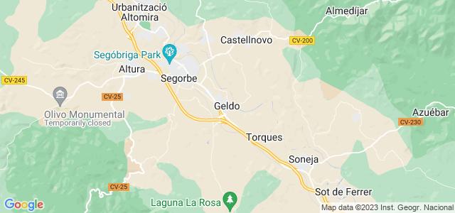 Mapa de Geldo