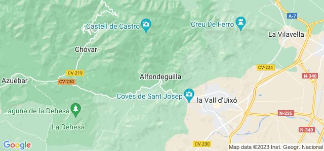 Mapa de Alfondeguilla