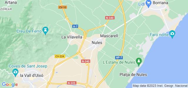 Mapa de Nules