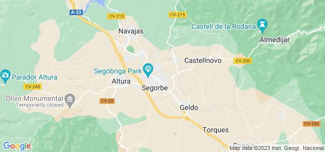 Mapa de Segorbe