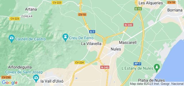 Mapa de Vilavella