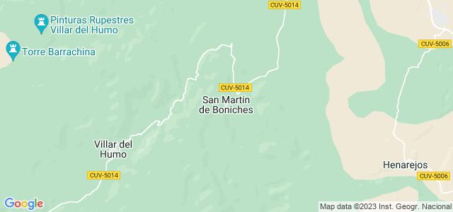 Mapa de San Martín de Boniches