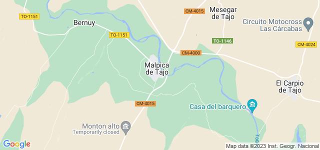 Mapa de Malpica de Tajo