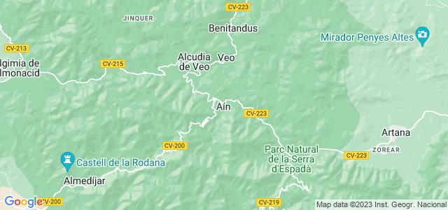 Mapa de Aín