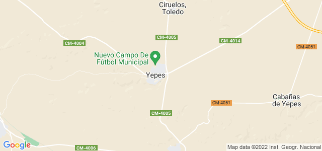 Mapa de Yepes