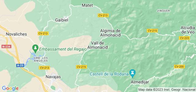 Mapa de Vall de Almonacid