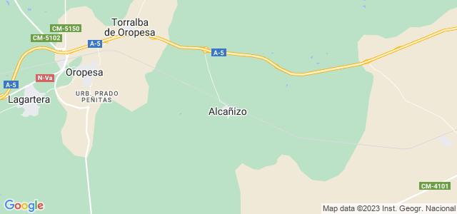 Mapa de Alcañizo