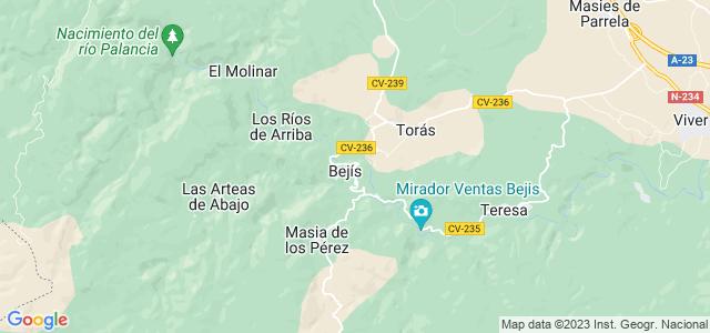 Mapa de Bejís