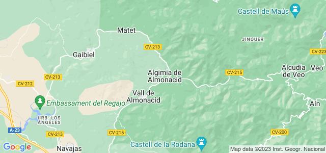 Mapa de Algimia de Almonacid