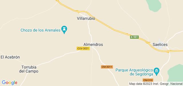 Mapa de Almendros