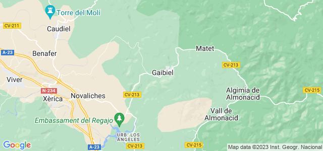 Mapa de Gaibiel
