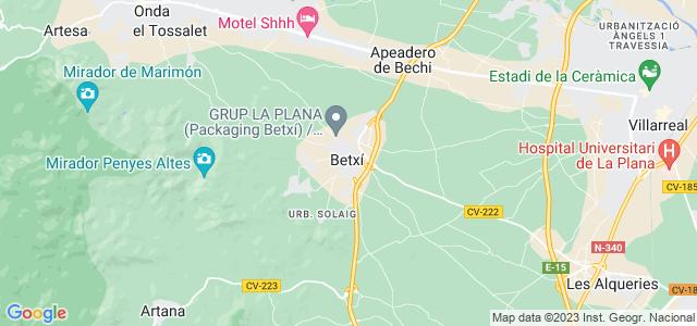 Mapa de Betxí