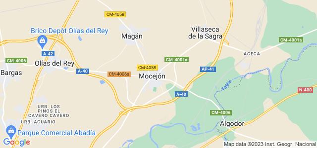 Mapa de Mocejón