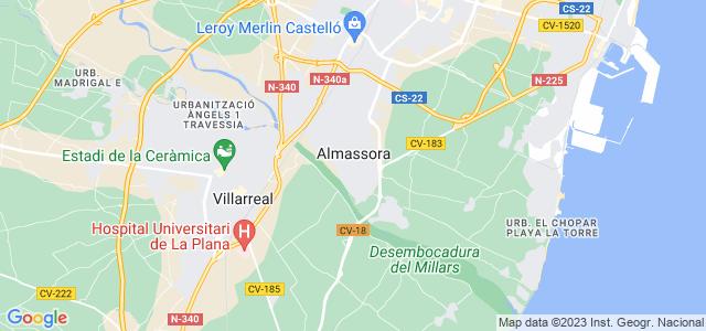 Mapa de Almazora - Almassora