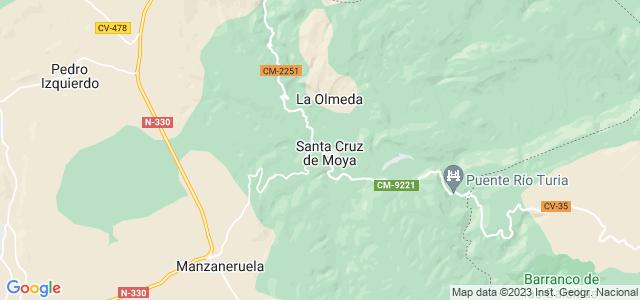 Mapa de Santa Cruz de Moya