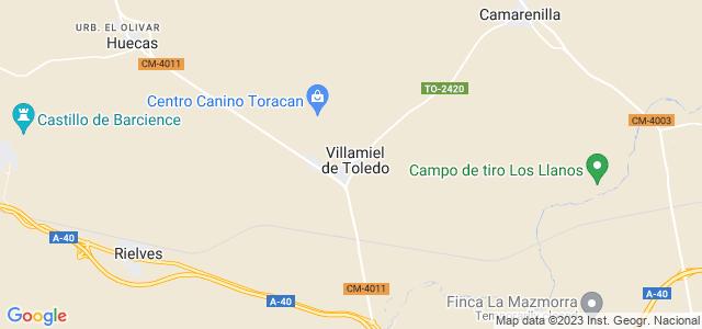Mapa de Villamiel de Toledo