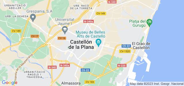 Mapa de Castellón de la Plana - Castelló de la Plana