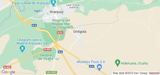Mapa de Ontígola