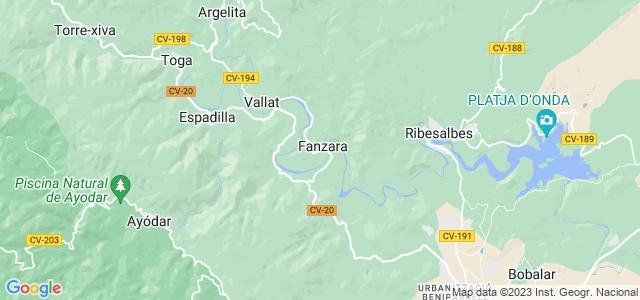 Mapa de Fanzara