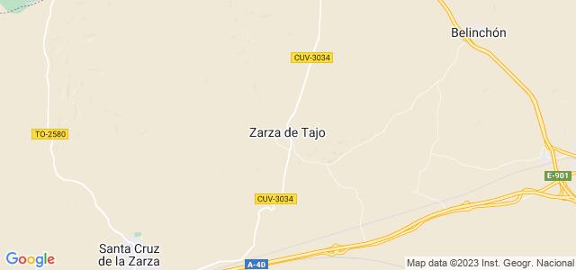 Mapa de Zarza de Tajo