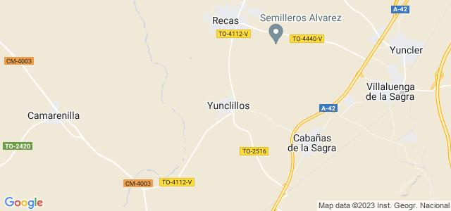 Mapa de Yunclillos