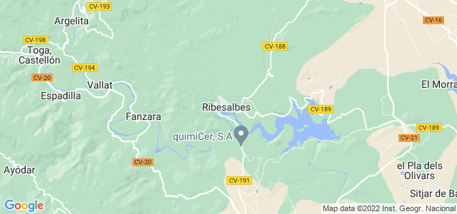 Mapa de Ribesalbes