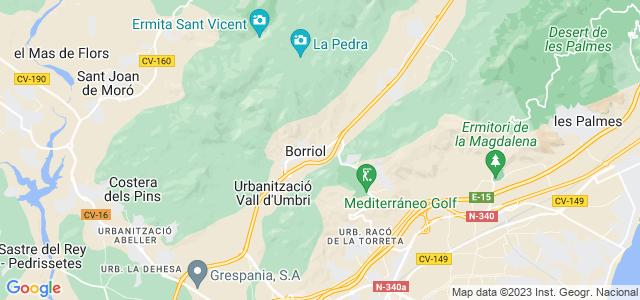 Mapa de Borriol