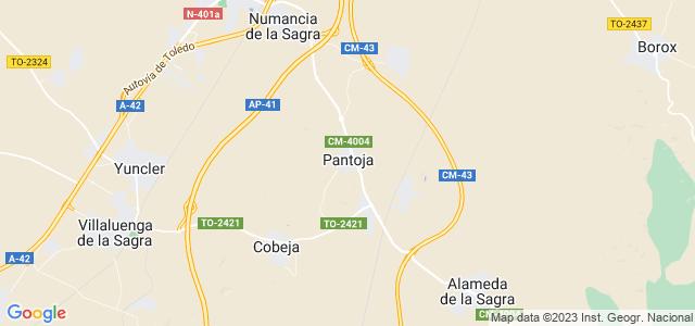 Mapa de Pantoja