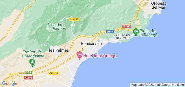 Mapa de Benicasim - Benicàssim
