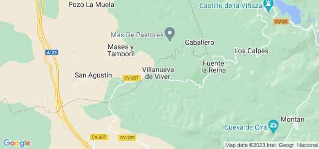 Mapa de Villanueva de Viver