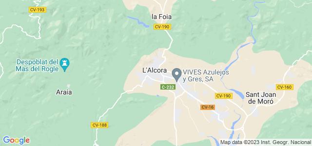 Mapa de Alcora