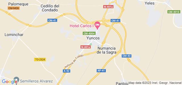 Mapa de Yuncos