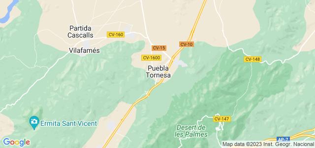 Mapa de Pobla Tornesa