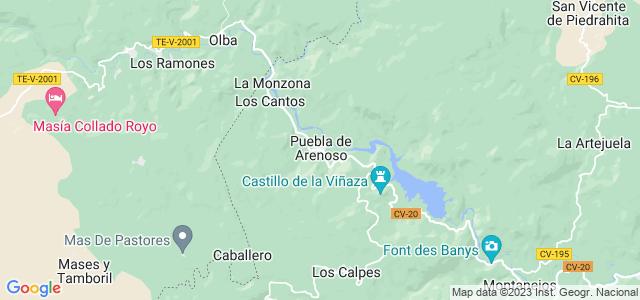 Mapa de Puebla de Arenoso