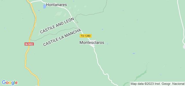 Mapa de Montesclaros