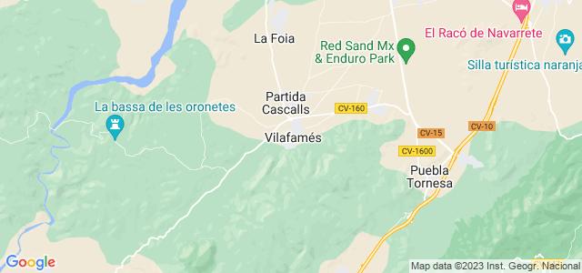 Mapa de Vilafamés