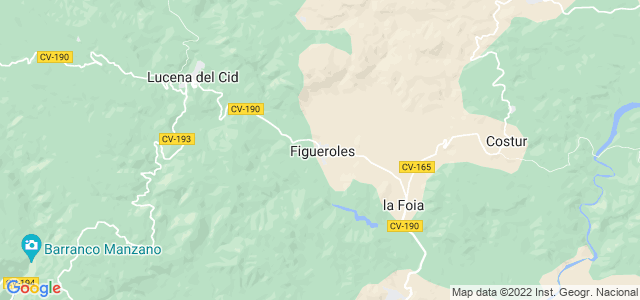 Mapa de Figueroles