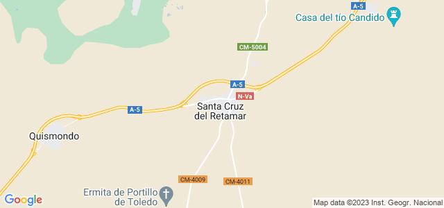 Mapa de Santa Cruz del Retamar