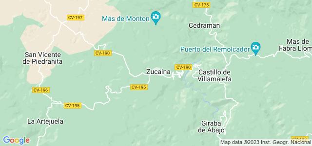 Mapa de Zucaina